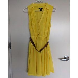 Button Down A-Line Dress w/ Belt